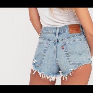 Vintage LEVI'S High Rise MOM Cutoff Jean Shorts-31